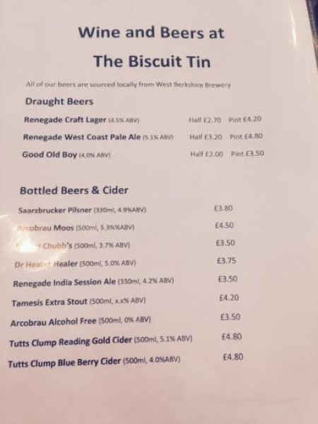 The Biscuit Tin Reading